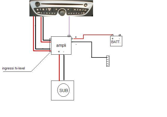 Subwoofer Xline Schema Elettrico : Schema elettrico amplificatore pronto imelda car